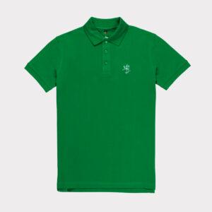 Žali vyriški golfo polo marškinėliai