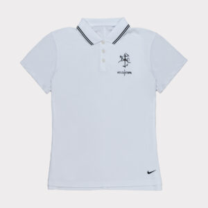 Balti moteriški golfo polo marškinėliai dri-fit Nike