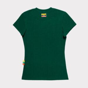 """Žali moteriški marškinėliai """"Lietuva"""" trumpomis rankovėmis"""