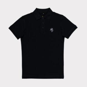 Juodi vyriški golfo polo marškinėliai