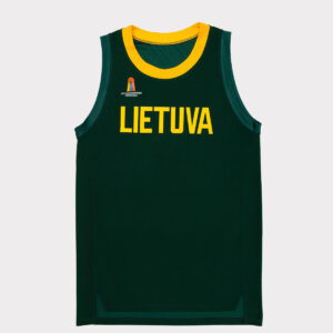 Žaidybiniai berankoviai žali marškinėliai be numerio