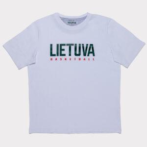 """Balti vyriški marškinėliai """"Lietuva"""" trumpomis rankovėmis"""