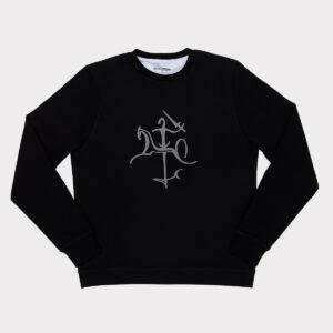 Juodas vyriškas megztinis su Vyčiu