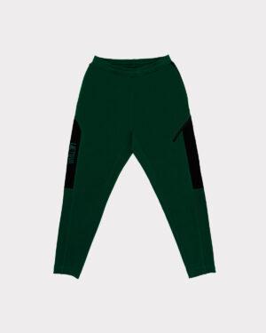 Žalios treninginės kelnės