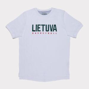 """Balti prailginti vyriški laisvalaikio marškinėliai """"Lietuva"""""""