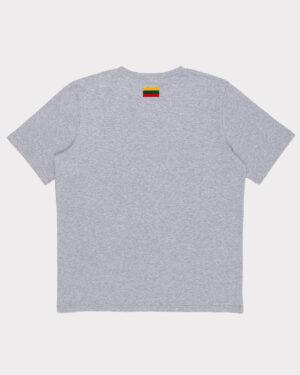 """Pilki vyriški marškinėliai """"Lietuva"""" trumpomis rankovėmis"""