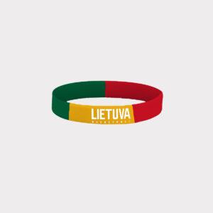 """Spalvota silikoninė apyrankė su """"Lietuva Basketball"""" logotipu"""