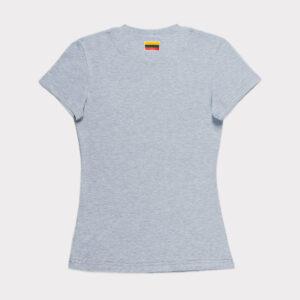 """Pilki moteriški marškinėliai """"Lietuva"""" trumpomis rankovėmis"""